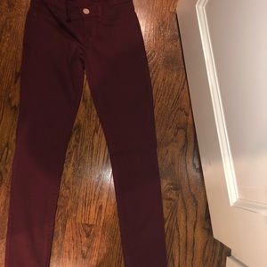 RSQ size 3 Burgundy Miami Jeggings
